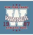 New York t-shirt graphics vector image vector image