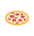 Pizza icon in isometric 3d style vector image vector image