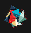 polygonal geometric design abstract shape made of vector image vector image