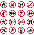 Prohibited icons set vector image vector image