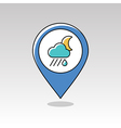 Rain Cloud Moon pin map icon Meteorology Weather vector image vector image