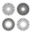rays beams element sunburst starburst shape vector image vector image