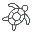 sea turtle line icon animal and underwater vector image vector image