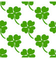 seamless background irish clover vector image vector image