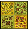 Seamless decorative floral scrolls patterns vector image