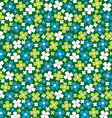 Seamless pattern with stylized flowers floral vector image vector image