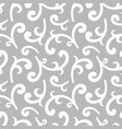 seamless silver vintage wallpaper vector image