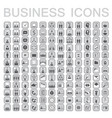 set of 144 web icons for business finance office vector image
