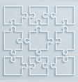 set of paper parts puzzle vector image vector image