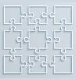 set paper parts puzzle vector image vector image