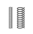spiral spring vector image vector image
