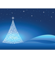 Starry christmas tree vector | Price: 1 Credit (USD $1)