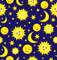 sun moon pattern vector image