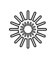 sun star climate isolated icon vector image vector image