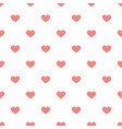 tile pastel pattern with pink hearts on white vector image vector image