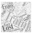 Trains arent a lost Art in San Francisco Word vector image vector image