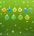 Transparent Christmas balls vector image