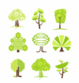 Tree icon and symbols vector image vector image