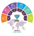 trophy infographic template design vector image vector image