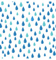 water drops pattern blue color vector image vector image