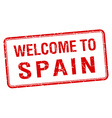 welcome to Spain red grunge square stamp vector image vector image
