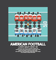 American Football Players Top View vector image