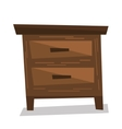 Brown bedside table vector image