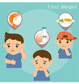 Food Allergies vector image