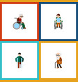 flat icon handicapped set of disabled person