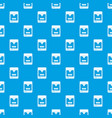 3d printer pattern seamless blue vector image vector image