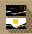 abstract business card template vector image vector image