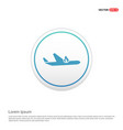 airplane accident icon - white circle button vector image