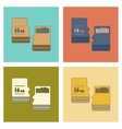 assembly flat icon micro SD vector image