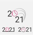 baseball sign 2021 set baseball logo for a vector image