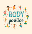 body positive happy plus size girls and active vector image vector image