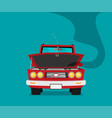 broken car cartoon flat vector image vector image