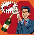 businessman pop art vector image vector image
