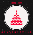 cake symbol icon vector image vector image
