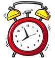 cartoon alarm clock ringing vector image vector image