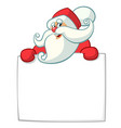 christmas cartoon of funny santa vector image
