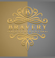 classic luxurious letter b logo with embossed vector image vector image