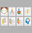 collection infographics for education vector image