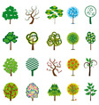 collection of trees for design vector illustration vector image vector image
