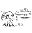 Coloring book with dogs vector image vector image
