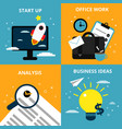 concept pictures with different business elements vector image