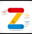 creative Z alphabet design concept vector image vector image