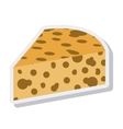 Delicious cheese isolated icon