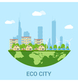 eco city vector image vector image