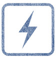 electricity fabric textured icon vector image vector image