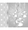 elegant christmas background with baubles - vector image